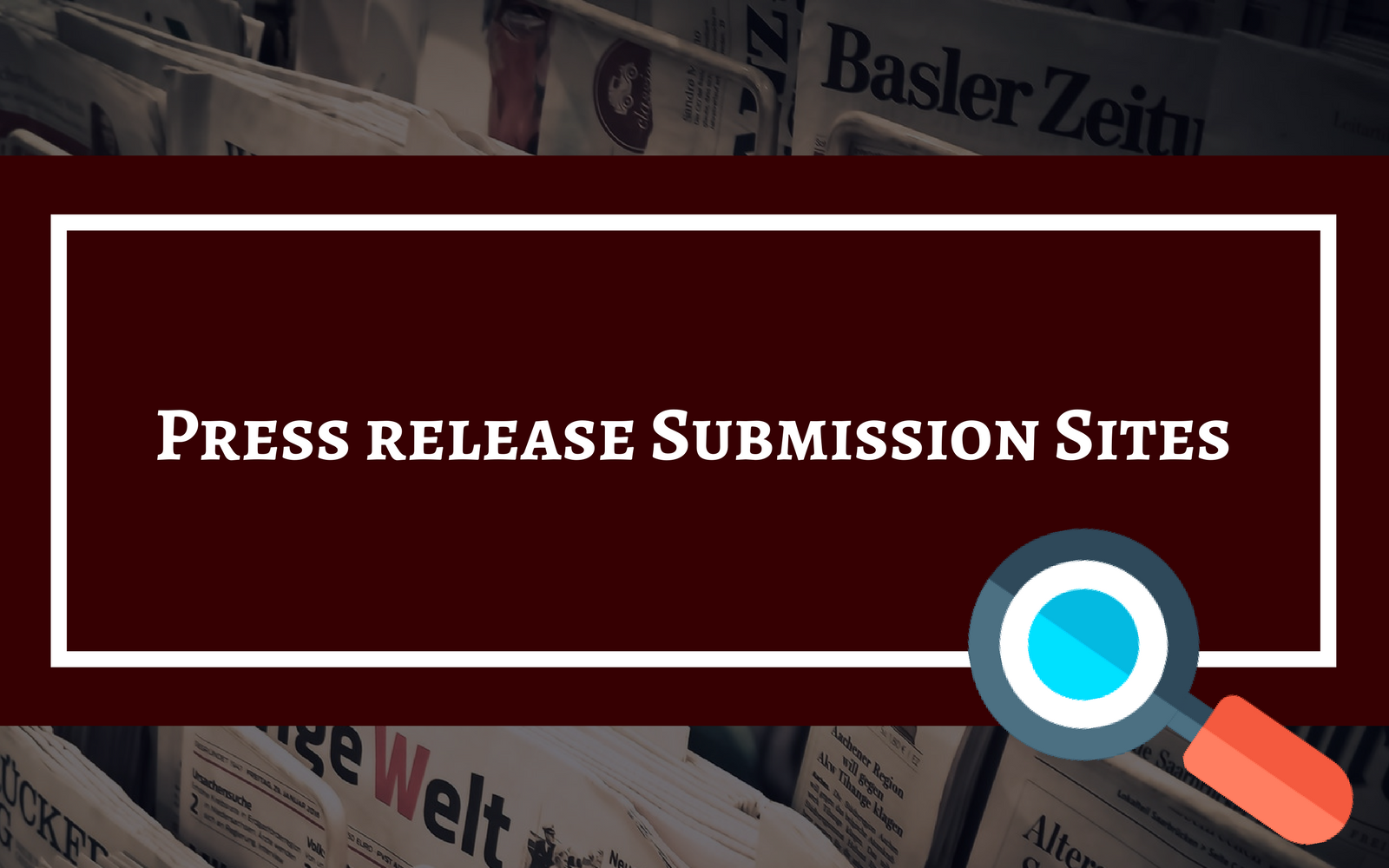 Press Release Submission Sites List Image
